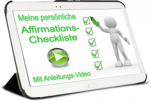 Affirmations-Checkliste